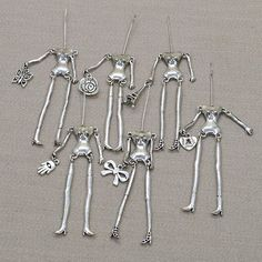 50 pcs/lot +10 pcs Promotion Random Send Nake Body Alloy Doll Necklace Jewelry DIY Accessories Gold & White & Anti-Silver NS238