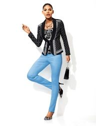 The sky blue ankle slim jean screams spring!  #whbm #spring