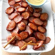Sausage Chips and Honey Mustard Dip Recipe -From the Kitchen at Johnsonville Sausage