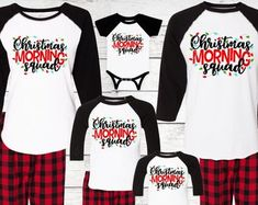 DesignBarnShop on Etsy Family Pjs, Family Christmas Pajamas, Christmas Shirts, Christmas And New Year, Christmas Ideas, Mom And Son Outfits, Family Outfits, Monogram Shirts, Love Holidays