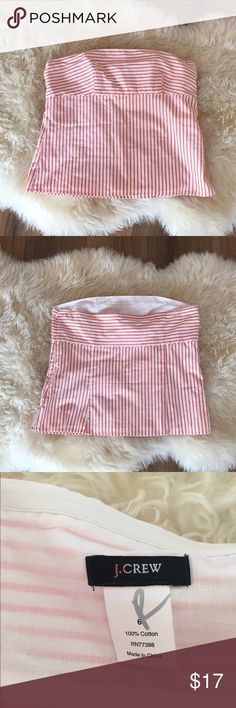J crew stripe strapless top Like new J. Crew Tops