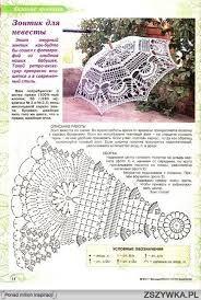 Znalezione obrazy dla zapytania wzory i schematy szydełkowe na parasolki