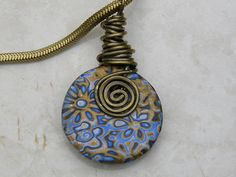 Blue Polymer clay flower necklace side 1 | Polymer clay flow… | Flickr