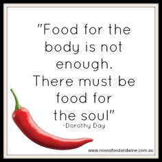 Food isn't just important for your body! #FoodThoughts #FoodQuotes