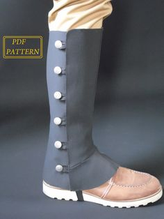 PDF downloadable spats pattern and tutorial by RZcrafting on Etsy