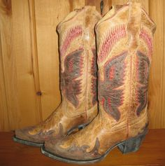 Corral Boots Antique and Red Eagle