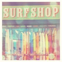 California beach photography, surfer home decor, beach lovers, summer vacation, surf shop rainbow surfboards, girl surfers, beach nursery