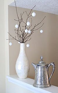 Beautiful Christmas decor--dollar store foam balls. Check out this little blog.