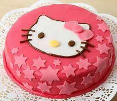 Çocukların en çok sevdiği çizgi film kahramanlarından biri olan Hello Kitty, özel günlerde pasta çeşitleri arasında yerini almaktadır. Oldukça güzel bir görünüşe sahip olan pasta çeşitlerinden biri olan sevimli karakter, doğum günlerinde oldukça tercih edilmektedir. Hello Kitty Pasta almak yerine kendinizde evde bu pastayı kolaylıkla yapabileceksiniz. Çocuğunuza farklı bir sürpriz yapabileceğiniz Hello Kitty Pasta oldukça farklılık yaratabilirsiniz.