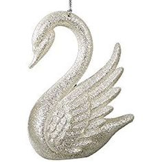 Swan Ornament Silver White by Kurt Adler Christmas Ornaments White Christmas Ornaments, Personalized Christmas Ornaments, Christmas Colors, Christmas Decorations, Hanging Pendants, Hanging Ornaments, Tree Dazzler, Wings Design, Xmas Tree