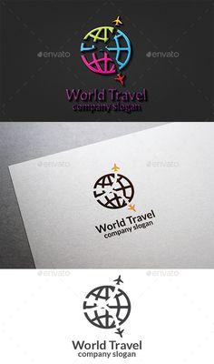 World Travel Logo: Symbol Logo Design Template created by design_big. Travel Agency Logo, Travel Logo, Travel Slogans, Travel Quotes, Logo Design Template, Logo Templates, Turismo Logo, Aviation Logo, Globe Logo
