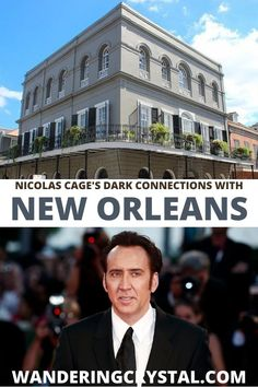 Nicolas Cage and New Orleans, Nicolas Cage's dark connections with New Orleans, Things to do in New Orleans, Things to do in Louisiana, ghost tours in New Orleans, Nicolas Cage in New Orleans, LaLaurie Mansion in New Orleans, haunted locations in New Orleans, dark history in New Orleans, spooky things to do in NOLA #neworleans #louisiana #nola #ghosttour #haunted Stuff To Do, Things To Do, New Orleans Homes, New Orleans Travel, Ghost Tour, Nicolas Cage, French Quarter, Louisiana, Connection