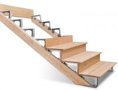 Building Deck Stairs Without Stringers - Building stairs - Outdoor Stairs, Deck Stairs, Wooden Stairs, Escalier Art, Escalier Design, Deck Building Plans, Building Stairs, Deck Plans, Stairs Without Stringers