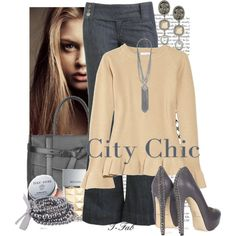 T-Fab. by t-fab featuring gunmetal jewelry Untitled by salmaashraf featuring oxford shoes Lauryn. by t-fab featuring vintage blo. Beige Top, Brian Atwood, City Chic, Style Me, Oxford Shoes, Michael Kors, Pretty, Casual, Polyvore