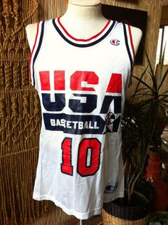 5ae7c3b21b4 Clyde Drexler #10 USA Olympic Dream Team Basketball Jersey 1992 Champion  Brand Size 40