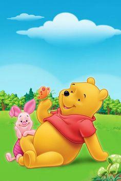Pooh & Piglet see more #cartoon pics at www.freecomputerdesktopwallpaper.com/wlatest.shtml
