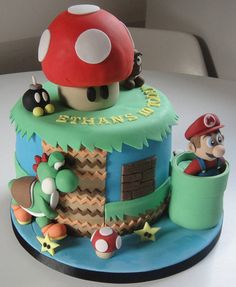 """Wow, check out Mario's eyes. I think a piranha plant has bitten his """"gold coins"""". @Catherine"""