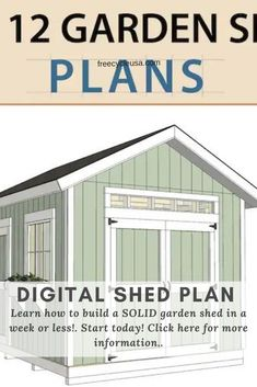 Download 40+ free shed plans & storage designs of 2021, that will inspire you and teach you how to build a shed from scratch in a week or less! Free Shed Plans, Tool Sheds, Building A Shed, Storage Design, Barndominium, Country Living, Backyard, How To Plan, Simple