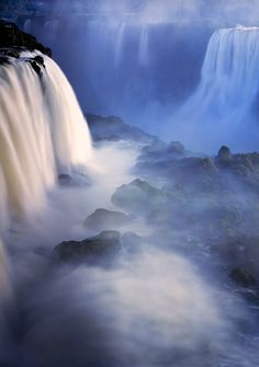 This Photo is amazing. Iguazu Falls are known throughout the world as one of the most beautiful and majestic natural waterfalls man has ever seen. The falls themselves sit on the Iguazu River and rest on the border between Brazil and Argentina. The Iguazu River flows through Brazil for most of its course.