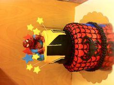 Spider-Man birthday cake  www.doughmommas.com Man Birthday, Birthday Cake, Cakes For Men, Spiderman, Cake Decorating, Party, Cute, Desserts, Kids