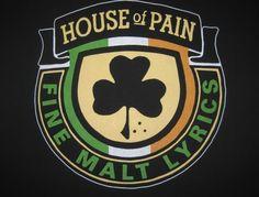 Vintage 1992 House of Pain Fine Malt Lyrics rap t-shirt Pop Culture, Sport Team Logos, Music, Logos, Hip Hop, Music Love, The Good Old Days, Rap Tshirts, Home Logo
