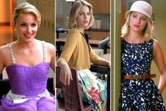Quinn Fabray. Love the smile and purple dress! Running out of good portraits to pin.