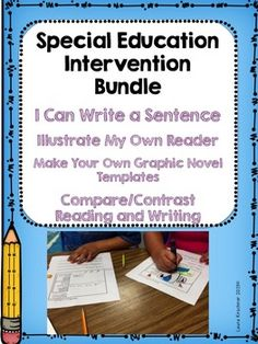 40% discount! Enjoy these 4 products: 1. I Can Write a Sentence 2. Illustrate My Own Reader 3. Make Your Own Graphic Novel Templates 4. Compare/Contrast Reading and Writing **Information and directions for each activity is included with that product.