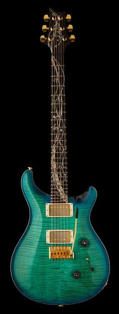 I believe I have found the most gorgeous guitar in the world. Oh. My. Gosh. #PRSGuitars
