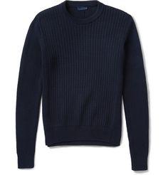 Lanvin Ribbed-Knit Cotton Sweater | MR PORTER
