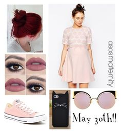 """""""❤️👶🏻👫"""" by isabella3612 ❤ liked on Polyvore featuring ASOS, Converse, Kate Spade and Fendi"""