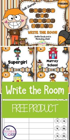 This fall themed activity is a fun way to practice identifying common and proper nouns. It is great to use in literacy groups with your first or second grade students. This is a great free product!