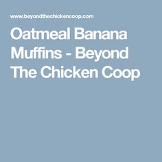 Oatmeal Banana Muffins - Beyond The Chicken Coop