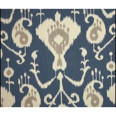 Magnolia Fabric Home Java Ikat Yacht Blue Ikat Fabric    Charlestonfabrics.com