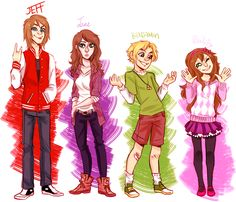 Jeff the killer, Jane the killer, BEN Drowned and Sally before they became creepypasta they are today.
