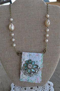 Vintage Necklace 1 with pretty vintage brooch by damitasprettywrap