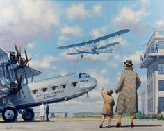 Woodcock (Keith) 'Imperial Airways Croydon Airport in the 1930