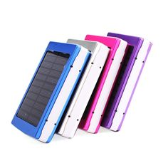2016 large capacitor 12000mah solar Power Bank Solar Charger Powerbank Carregador de Bateria Portatil for iPhone iPad Samsung | #PowerBankforipad