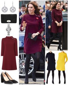 """2,557 Likes, 27 Comments - Catherine Duchess Of Cambridge (@katemidleton) on Instagram: """"The Duchess was looking chic in a new plum dress for today's Place2Be Leaders Forum. She opted for…"""""""