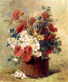 A Barrel of Wildflowers (Eugene Henri Cauchois)
