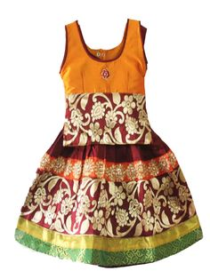 76ea224256ec2 Grand Traditional Ethinic pattu pavadai | Baby party and western wear
