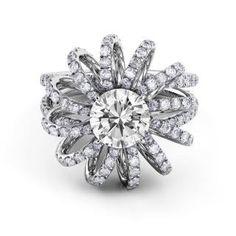 Danhov Couture Split Shank Swirl Engagement Ring #Danhov #finejewelry #Handmadejewelry #engagementrings #weddingbands #LosAngeles
