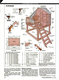Popular Mechanics - playhouse idea and add slide http://woodworkingtips.us