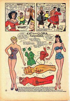 Katy Keene Pin Up Parade No 1 1955 Comic Book | eBay