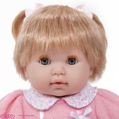 #muñecasberenguer #berenguerdolls #muñecasbebesdisy Muñecas Berenguer - Nonis morena de 38cm con vestido rosa - 30021