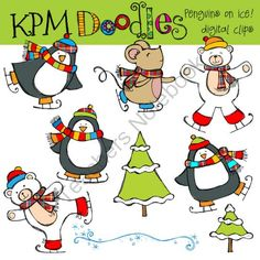 COMBO pack Penguins on Ice from kpmdoodles on TeachersNotebook.com -  (20 pages)