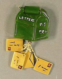 Bakelite mailbox and letters