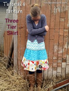 tutorial sew a three tier skirt