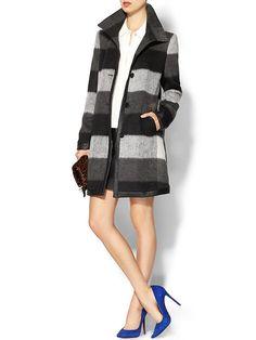 University Plaid Coat Product Image