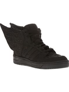 """ADIDAS ORIGINALS BY JEREMY SCOTT x A$AP Rocky Js Wings 2.0 trainer 6 - $265.29  """"Adidas tapped designer Jeremy Scott & stylish rapper A$AP Rocky to design this legendary pair of sneakers. Equipped with wings like that of Icarus, these sneakers are the new epitome of expressive streetwear.""""  http://www.farfetch.com/shopping/men/adidas-originals-by-jeremy-scott-aap-rocky-js-wings-20-trainer-item-10552753.aspx?storeid=9031"""
