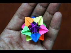 Modular Origami - How to make Modular Star Sphere Origami